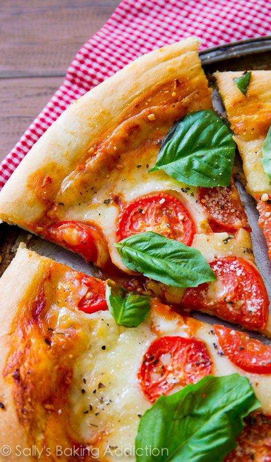 Classic Margherita Pizza from Sallysbakingaddiction.com