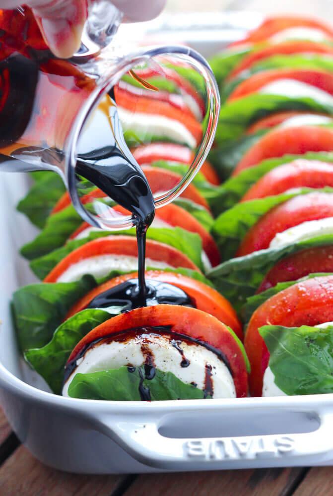 Tomato Mozzarella Salad from Littlebroken.com