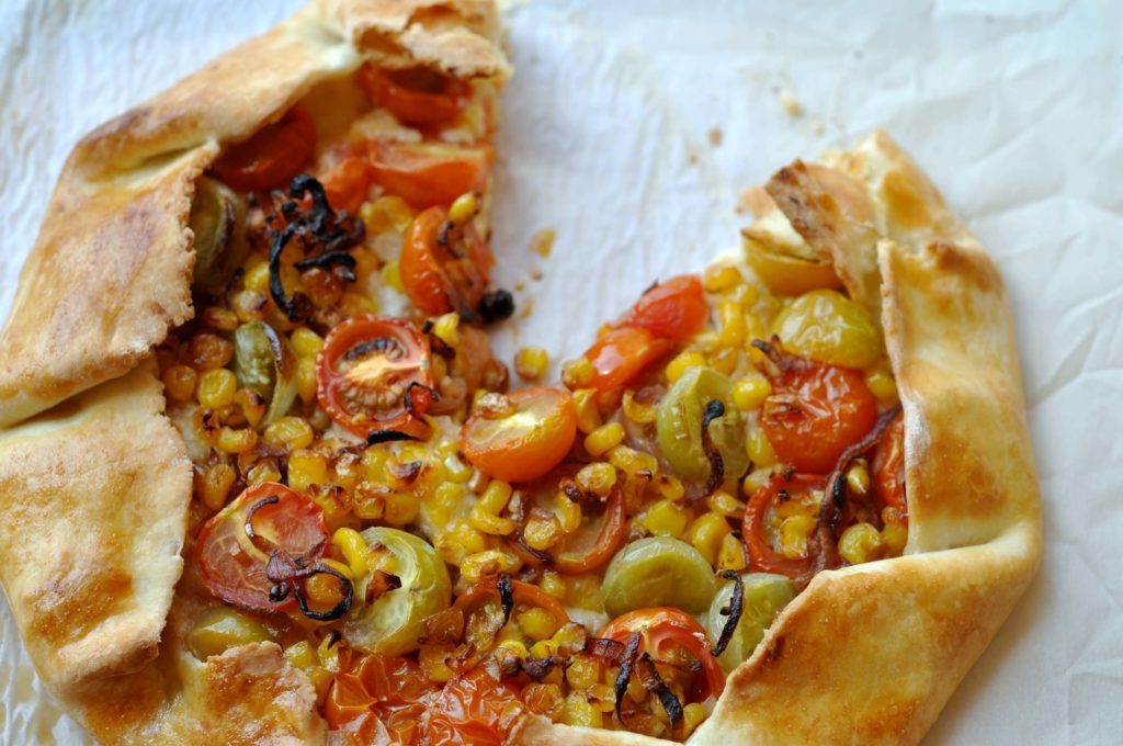 Tomato corn galette from thishealthytable.com