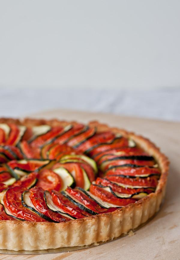 Tomato zucchini tart from abeautifulplate.com