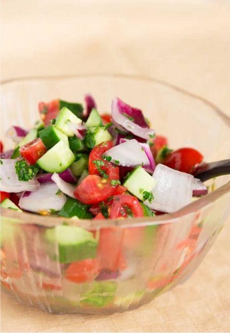Tomato Cucumber Salad Norecipes.com